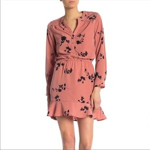 Joie | Acey pink floral mini dress Size Medium